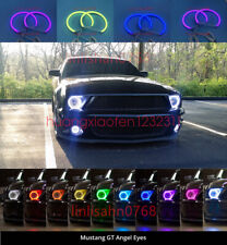 Cotton RGB LED Angel Eyes Halo Rings DRL For Ford Mustang Non Projector 2010-13