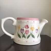 Very Rare 2 Beautiful Vintage Porcelain, Floral Watering Cans. New