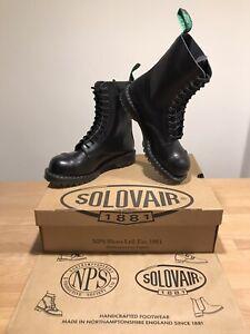 NPS SOLOVAIR Black 11 Eye Steel Toe Derby Boot! SizeUK9! New!Only