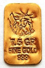 GOLD APPROX 1/2 GRAM (24K PURE GOLD BULLION BAR 999 FINE PURE GOLD g22
