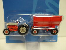 Ertl FORD NAA Tractor RED & TAN 1/64 scale w/Flarebox Wagon