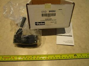 "Parker 524811000 Manual Air Control Valve 1/4"" 3-Way 2-Position, C0118"