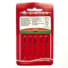Genuine SINGER Sewing Machine Needles 70/9 Light Woven Fabrics 2020 Pack of 5