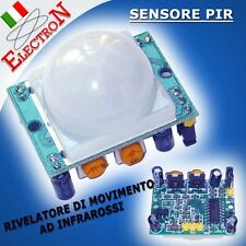 MODULO SENSORE PIR HC-SR501 RILEVATORE INFRAROSSO MOVIMENTO UNIVERSALE ARDUINO