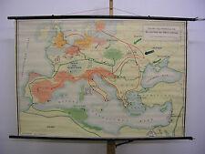 Schulwandkarte Urzeit - Völkerwanderung Germanenreiche in Europa 139x95 ~1959