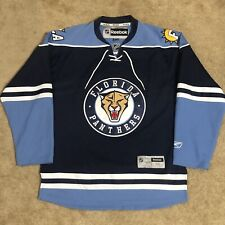 Reebok Florida Panthers NHL Hockey Jersey Navy Blue Alternate Third 3rd M