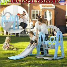Toddler Indoor/Outdoor playground Set Swing Slide Set And Backyard Baskets Kit��