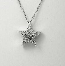 0.60 Ct Star VS2 Round Diamond Men's Women's Pendant Necklace 14k White Gold 16""