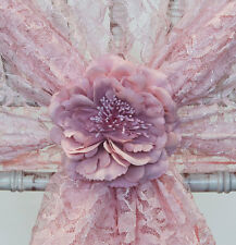 VINTAGE FLOWER CLIP AVAILABLE IN 7 COLOURS DECOR CHAIR COVER WEDDING DECOR