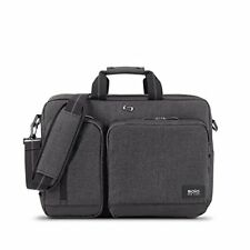 Solo Duane 15.6 Inch Laptop Hybrid Briefcase, Converts to Backpack, Grey - NEW™
