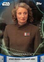 Women of Star Wars (2020) BLUE PARALLEL BASE Card #18 - COMMANDER D'ACY