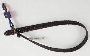 New Tommy Hilfiger Men's Small 30-32 Dark Brown Faux-Leather Braided Casual Belt