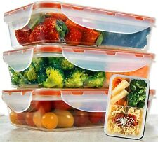 New listing Bento Lunch Box 3pcs set 24oz - Meal Prep Containers Microwavable - Bpa Free .