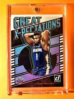 Zion Williamson PANINI DONRUSS HOT ROOKIE 2019-20 GREAT X-PECTATIONS INSERT RC!