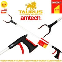 90Cm AMTECH Litter Picker Tool Rubbish Debris Pick Up Long Mobility Reach Aid UK