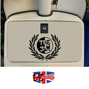 VESPA PX 125 LML SCOOTER FRED PERRY THE JAM GLOVEBOX STICKER DECALS GRAPHICS