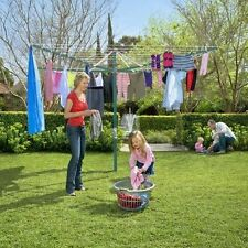 Hills Rotary 8 Washing Line Forest Glade Green (58m Clothes Line)