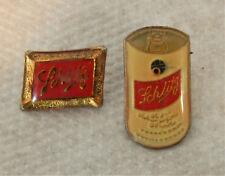 (2) 1980's Schlitz Beer Lapel Enamel Pins
