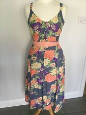 Joe Browns Ladies Floral Lined Sleeveless Dress Size 8. Great Condition.
