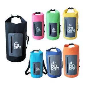 10/15/20/30L Waterproof Dry Bag Storage Pack Hiking Camping Outdoor Sport