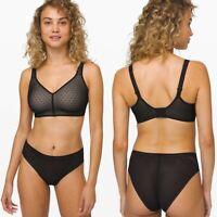 NWT Lululemon Like Nothing Bra * Lace in Black / Barely Beige Women's Size 32B
