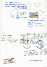 Turkey 1997 2 covers to Finland, Cat
