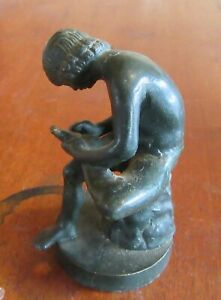 Grand Tour Bronze sculpture Boy Pulling thorn From Foot, after Spinario.
