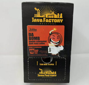 Java Factory Coffee Pods, Da Bomb Extra Bold Double CAFFEINE, 40 count
