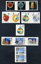Lot of 38 stamps, Uk, 1987 Scott 1168-1170 and 1172-1200, Seven Complete Sets