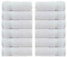 WhiteClassic Luxury Cotton Washcloths - 13x13 Hotel Face Towel White | 12 Pack