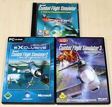 PC SPIELE SAMMLUNG MS FS COMBAT FLIGHT SIMULATOR 1 2 3 MICROSOFT - FLUGSIMULATOR