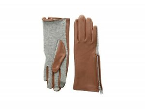 LAUREN Ralph Lauren Perforated Gusset Touch Gloves Leather Blend ( M )