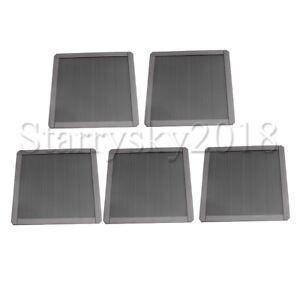5pcs Magnetic PC Computer Cooler Fan Case Dust Cover Dustproof Mesh Filter
