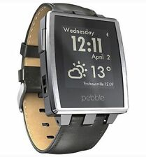 Pebble Stainless Steel Case Smartwatches