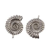 5 x Tibétain Argent Ammonite coquillage spirale Sea Shell charms pendentifs perles