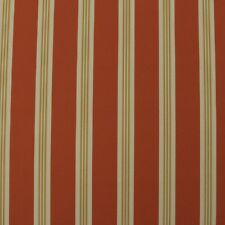 "OUTDURA TORY APRICOT ORANGE CREAM CANVAS STRIPE OUTDOOR INDOOR FABRIC BTY 54""W"