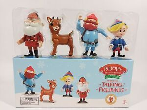 Rudolph The Red Nosed Reindeer Talking Figurines 50th Anniversary Limited