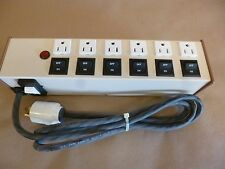 HOSPITAL  DUTY POWER STRIP , 6 OUTLET INDIVIDUALLY CONTROLLED 115 / 220 VAC
