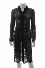 Lanvin Long Belted Lace Coat / Black / RRP: £1,895.00