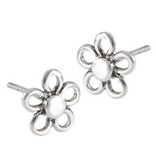 Sterling Silver Daisy Flower Stud Post Earrings