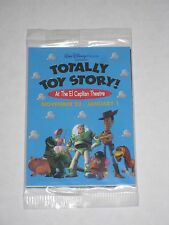 RARE!-DISNEY-Totally-Toy-Story-El-Capitan-Theater-Sealed-Promo-Cards-Pack-1995