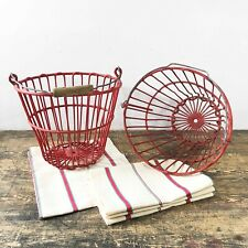 A pair of Primitive Country Wire Baskets -Early 1900's