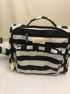 """JuJuBe Diaper Bag backpack Zebra Design (Black And White) Conditioned Is """"Used"""""""