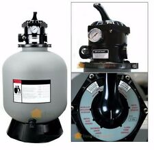 """24"""" Sand Filter System w 7 Ways Valve In-ground Swimming Pool Filter"""