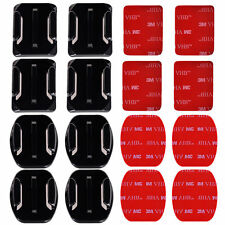 8x Flat & Curved Helmet Mounts 3M Adhesive Pads for GoPro Hero 2 3+ 4 5 6 Camera