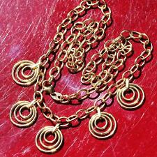 "EternaGold 14k yellow gold Italian 17.0"" fancy circular dangle necklace 6.5gr"