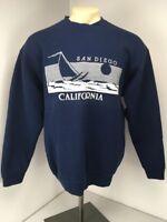Vtg 80s SAN DIEGO CALIFORNIA Puffy Paint Vacation Travel Sweatshirt XL USA MADE