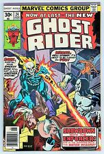 GHOST RIDER #24 (MARVEL COMICS 1977) VF+ (SHOWDOWN WITH THE ENFORCER!) 8.5