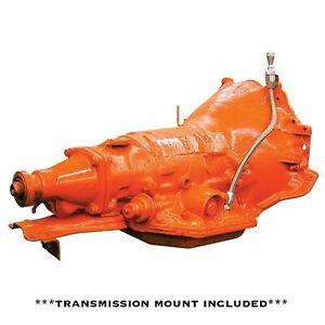 "Black C4 Trans Mount Billet Braided Dipstick 19"" Stick Transmission ASC SBF"