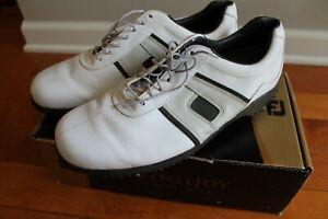 FootJoy Golf Athletics 56711 Men's Size 12 Wide Leather Golf Shoes Hardly Worn